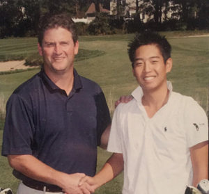 Hwang with Steve Donnely, his mentor in the game.