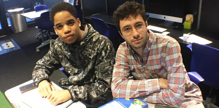 Aaron Somoroff with Antonio Cortorreal