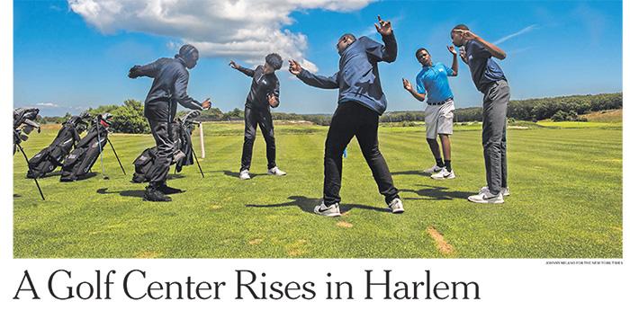 New York Times story on The Bridge Golf Foundation