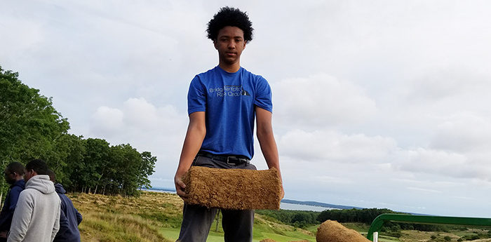Josiah Yoba youth works at The Bridge