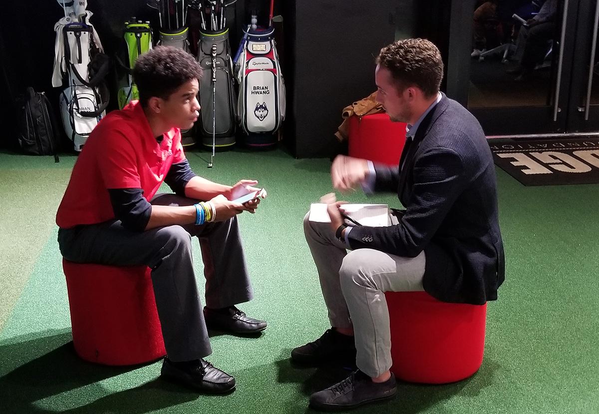 Juan Cortorreal with Matt Gaughan.