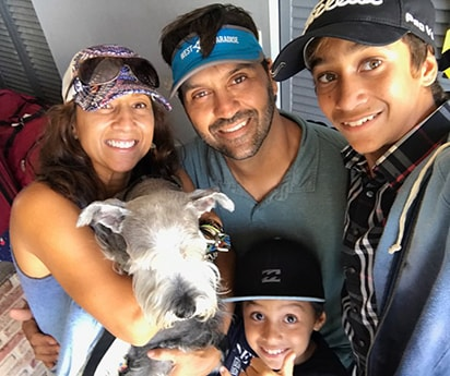 Lukas Rosario and family
