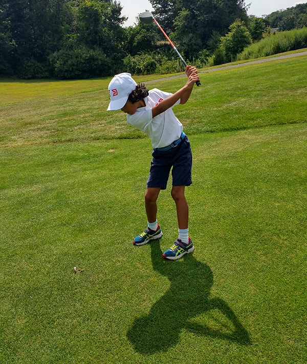 Charles Doyle has taken his game outside for U.S. Kids Golf tournaments.