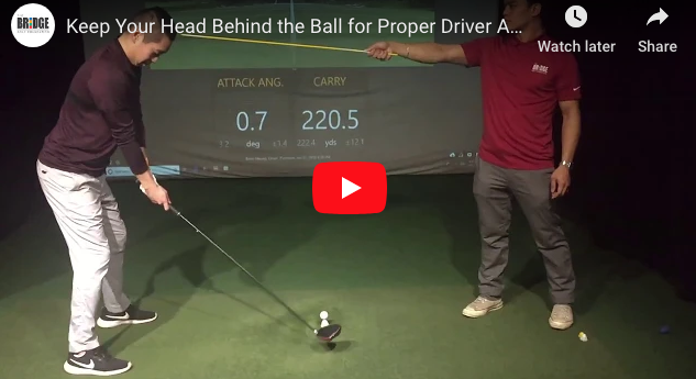 Brian Hwang driver attack angle tip video