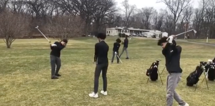 golf team warmup 2019