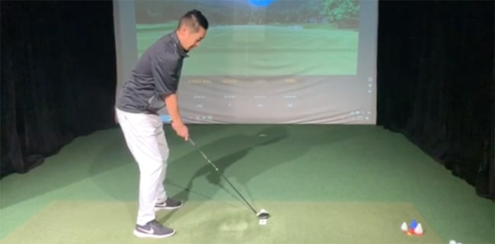 How to hit perfect hybrids with business card - Brian Hwang video golf tip