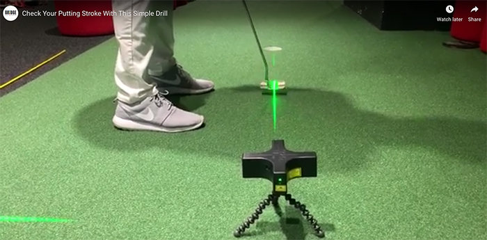 laser putting alignment video drill screenshot for featured image