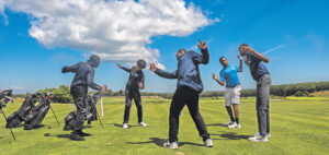 bridge golf foundation students from New York Times story