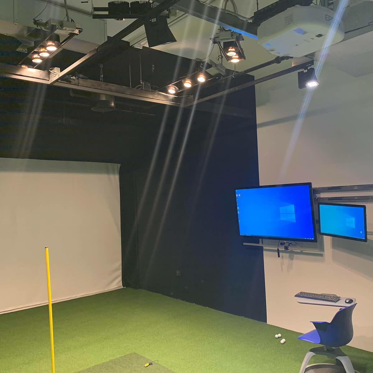 Lights for new video system at Bridge Golf Learning Center
